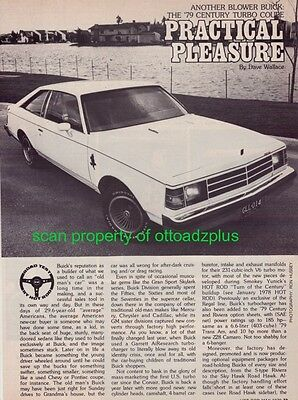 1979 Buick Century Turbo Coupe - 3 page road test