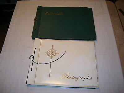 Pair of Vintage Photo Albums for Scrapbooks