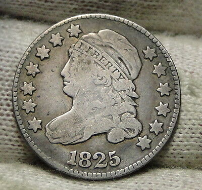 1825 Capped Bust Dime 10 Cents - Key Date, Nice Coin, Free Shipping  (5594)
