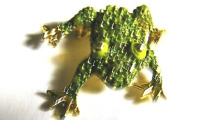 """Frog Pin Gold Plate 1 1/2"""" Estate"""