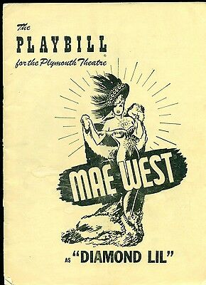 """MAE WEST as """"Diamond Lil"""" 1949 Playbill for Plymouth Theatre"""