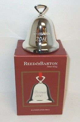 2011 Reed & Barton Silver Plate Bell Ornament, New in Box