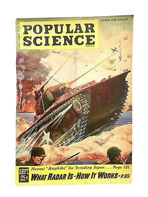 War Time Issue Popular Science Sept 1945 Newest AMPHIBS for Invading Japan