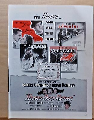 """1947 magazine ad for movie """"Heaven Only Knows"""" - Bob Cummings, Brian Donlevy"""