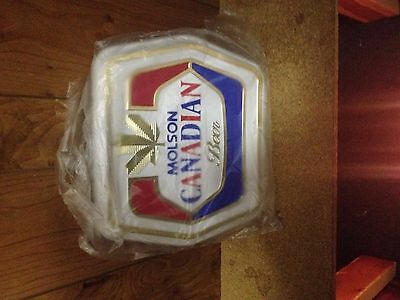 Molson canadian beer plastic sign