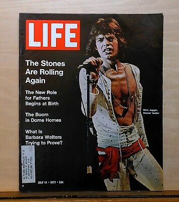 Life Magazine - July 14, 1972 issue - Mick Jagger cover - Rolling Stones article