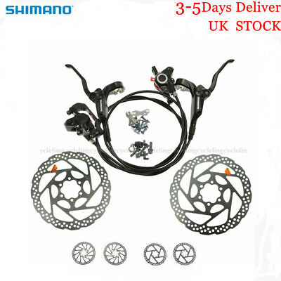 SHIMANO BR-BL-M355 Hydraulic Brake MTB Bike Disc Brake Set Rotors Front and Rear