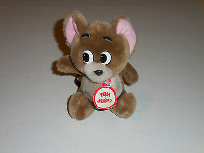 "Tom & Jerry Cartoon Presents Stuffed Plush Animal 6.5"" JERRY ONLY 1985 MGM/UA"