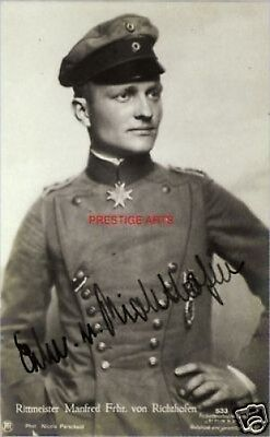 Signed Red Baron  Reprint