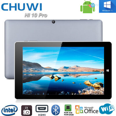 "4+64GB Chuwi Hi10 Pro 10,1"" Tableta PC Windows 10 + Android 5,1 Quad Core Tablet"