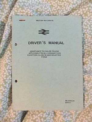 British Railways Train Crew Manual Assistance to Failed Trains Issue 3 1970s?