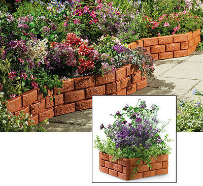5 Foot Long Realistic Looking Snapping Brick Garden Border Edging