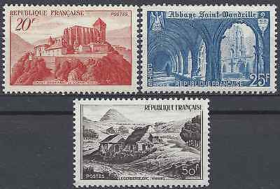 Monuments Et Sites N°841A/842/843 Neuf ** Luxe Gomme D'origine Mnh