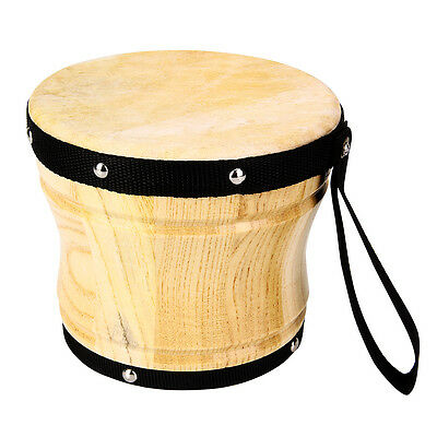 1PCS African Bongo Drum + 1Drum Hammer Wooden Djembe Musical percussion Kids Toy