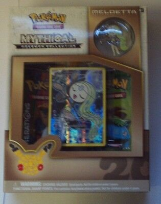 POKEMON Meloetta Mythical Collection Pin NEW foil card Boosters NEW