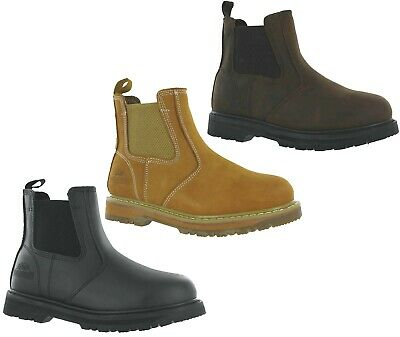 Groundwork Dealer leather chelsea Safety Steel Toe Cap  Work Boots Shoes UK7-11