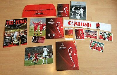 Liverpool  Istanbul 2005 Champions League Final Ultimate Package Gerrard Signed