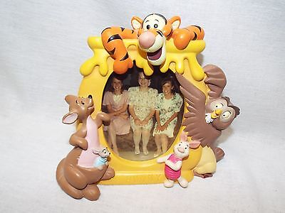 Vintage DISNEY Winnie the Pooh HUNNY Picture Frame FREE SHIPPING