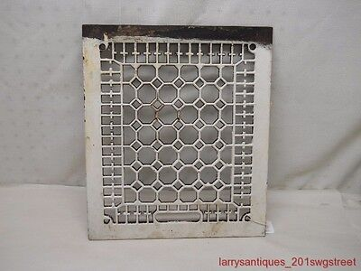 "~Nice~ Old Ornate 10"" X 12"" Cast Iron Floor Register Grate (Nr)"