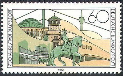 Germany 1988 Dusseldorf/Monument/Horse/Statue/Buildings/Animation 1v (n29638)