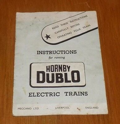 Hornby Dublo Electric Train Instructions  Locomotives