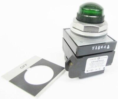 New GE CR104PLG32GA2 120V Off Green Lens Transformer Pilot LIght NIB