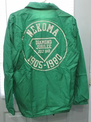 Old 1905-1980 Nekoma ND Diamond Jubilee Richard Leslie Green Golf Jacket FREE SH