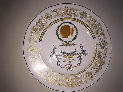 Crown Staffordshire plate - Marriage of Anne & Mark Phillips