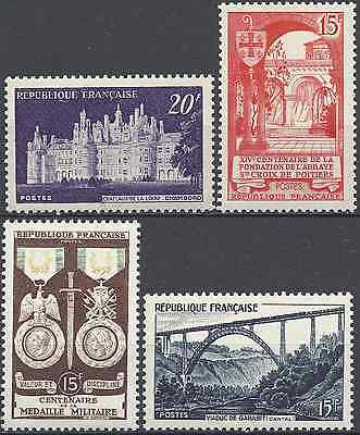 4 Timbres De 1952 N°924/926/927/928 Neuf ** Luxe Gomme D'origine Mnh