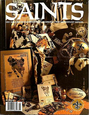 1991 New Orleans Saints Official Team Yearbook - 25th Anniversary Edition