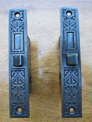 Pair Vintage Eastlake Mortise Entry Door Lock