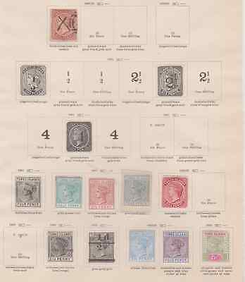 Turks & Caicos 1867/1920's Collection 2 Pages Mint Mounted & Used