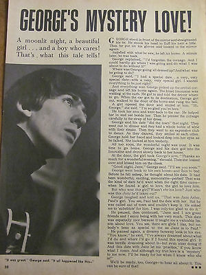 George Harrison, The Beatles, James Franciscus, Full Page Vintage Clipping