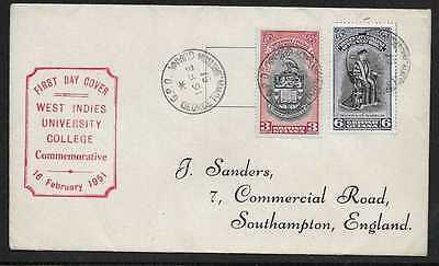 British Guiana  1951 University College Set On First Day Cover   Very Fine