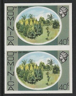 Dominica (S99) 1975 definitives 40c Bay Leaf Groves  IMPERFORATE PAIR  unmounted