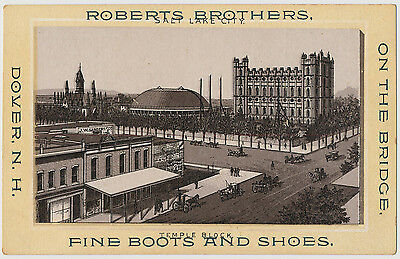 Roberts Brothers Fine Boots and Shoes, Dover, New Hampshire - Trade Card