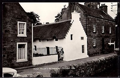 Postcard ~ HUGH MILLER'S Birthplace CROMARTY Scotland ~ Real Photographic
