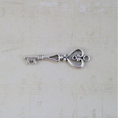 Old look antique vintage skeleton keys 3 colors craft steampunk jewelry 9 lot ab