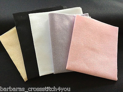 14ct AIDA FABRIC  LILAC - WHITE-LILAC