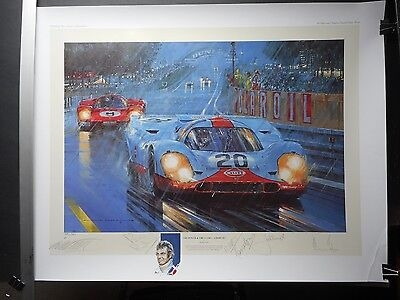 SIGNED PRINT by Watts THE POWER & THE GLORY A TRIBUTE Redman Ickx Bell Attwood