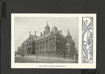 Vintage B/W Postcard General View The Assize Courts Manchester unposted