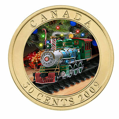 2009 Canada 50 cent Lenticular Coin - Holiday Train