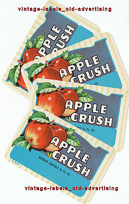 SELECTION VINTAGE APPLE CRUSH drinks labels nice APPLE pictorials