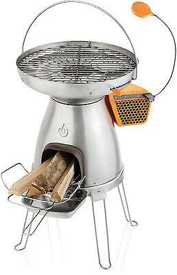 BioLite Wood Burning BaseCamp Stove with USB Charger and FREE FlexLight
