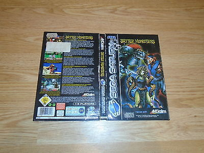 Battle Monsters-Sega Saturn-Box And Manual Only ***no Disc!***