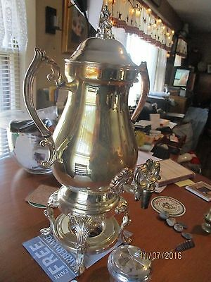 Silver Plated Coffee Dispenser with burner - NEW