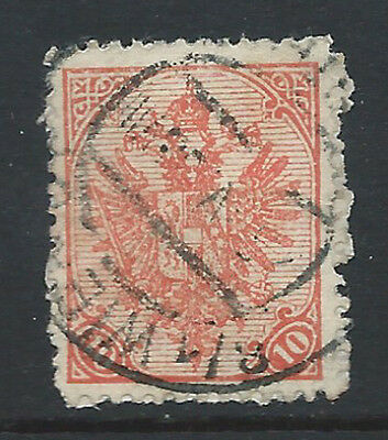 Bosnia Eagles 1900 10h red perfr 12 1/2  used VIENNA cds 124b/D1/T