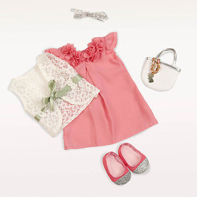 Our Generation Purrrfectly Suited Outfit - Doll Clothes Party Dress Shoes Bag