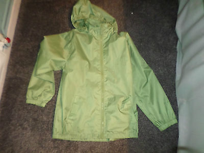 Girls Lightweight Raincoat - Green - From Millets - Age 11-12 Yrs