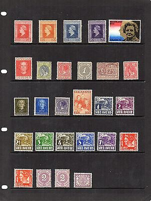 H.Mint and Used - Netherlands and Cols x 27 stamps